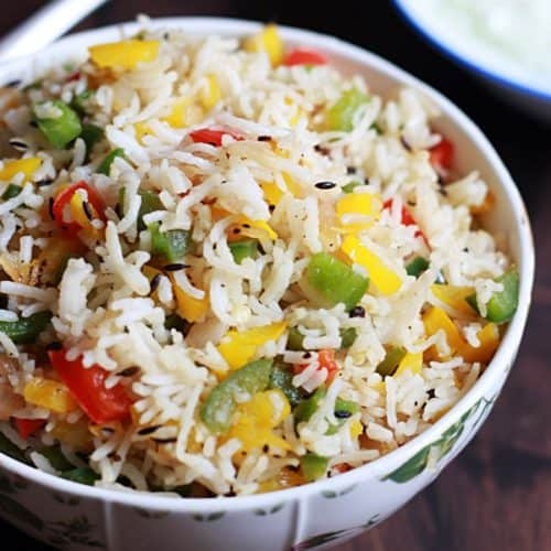 capsicum rice recipe