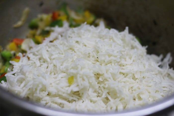 making capsicum rice recipe