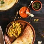how to make paneer masala dosa recipe