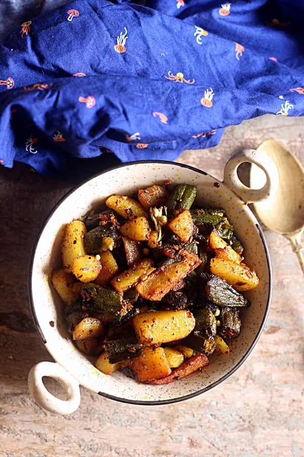 bhindi aloo recipe