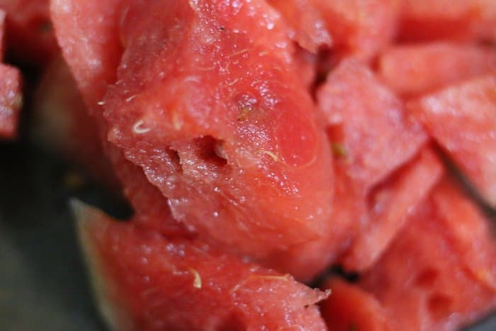 chopped watermelon