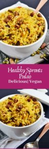 Healthy sprouts pulao
