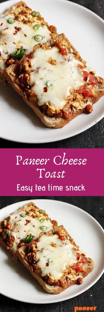 Paneer cheese toast recipe