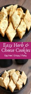 Herb and cheese cookies recipe