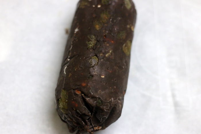 frozen chocolate sausage