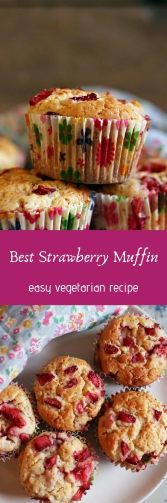 egg free strawberry muffins