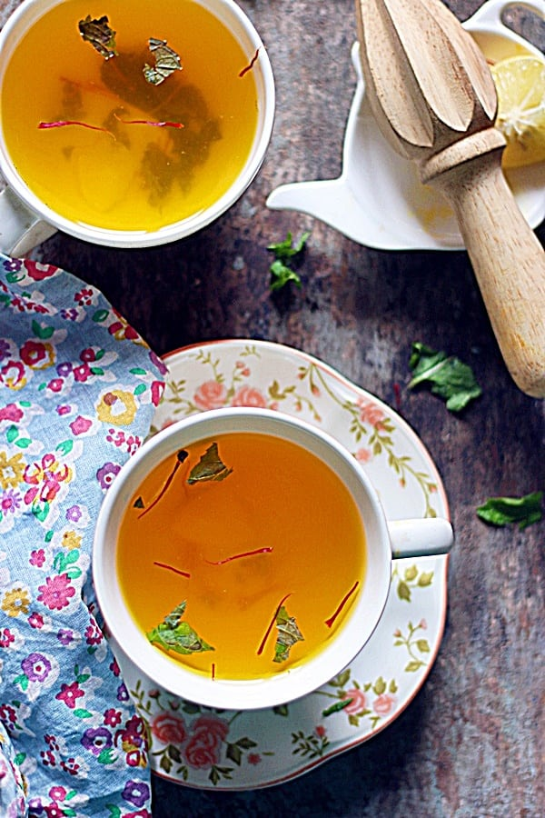 saffron tea recipe