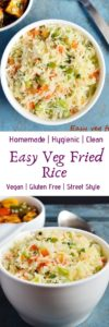 Veg fried rice recipe with video.