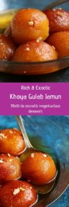 Khoya gulab jamun is one of the most popular Indian sweet. You will find gulab jamuns served in every party, wedding feast and invariably prepared for all Indian festivals like Diwali, Holi. This is my easiest tried and tested recipe for making khoya gulab jamun with step by step photos. Do try out this classic Indian sweet and enjoy! Recipe via cookclickndevour.com #gulabjamun #khova #gulabjamunrecipe #cookclickndevour