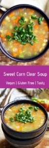 Sweet corn clear soup recipe