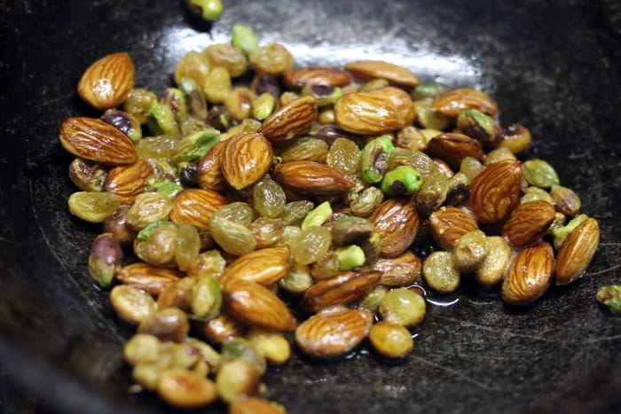 fried nuts for atta ladoo