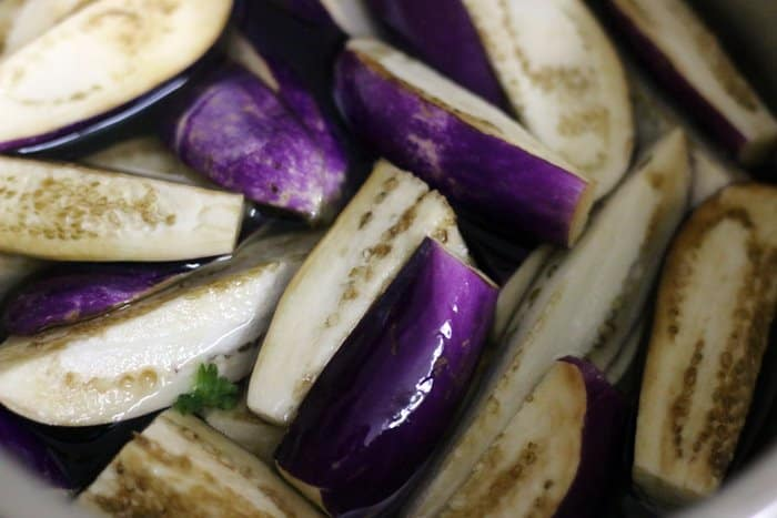 eggplants for sambar