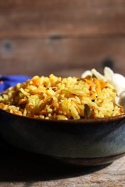 carrot rice ready to serve