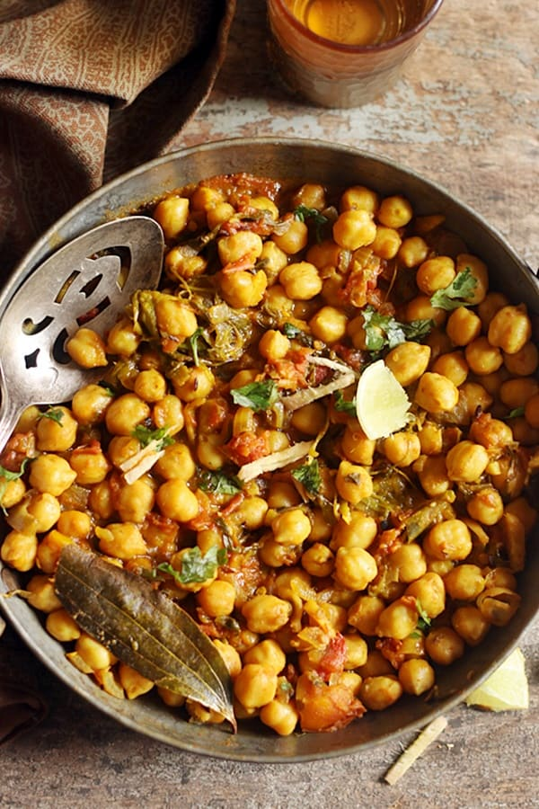 easy chole methi curry recipe