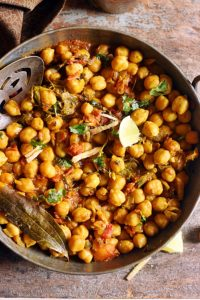 methi chole recipe