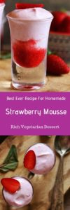 egg free strawberry mousse