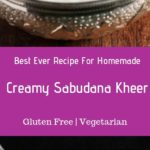 Sabudana kheer recipe or sago kheer recipe