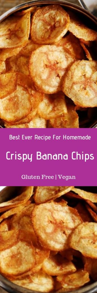 Banana chips recipe or plantain chips recipe