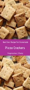 Whole wheat pizza crackers