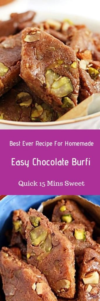 easy chocolate burfi recipe