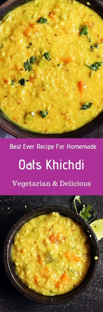 Healthy oats khichdi recipe