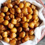 roasted chickpeas served as snack