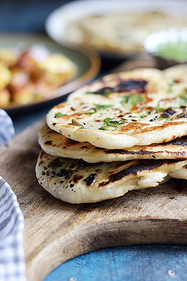 Easy Naan Recipe (On Stove Top) | Cook Click N Devour!!!
