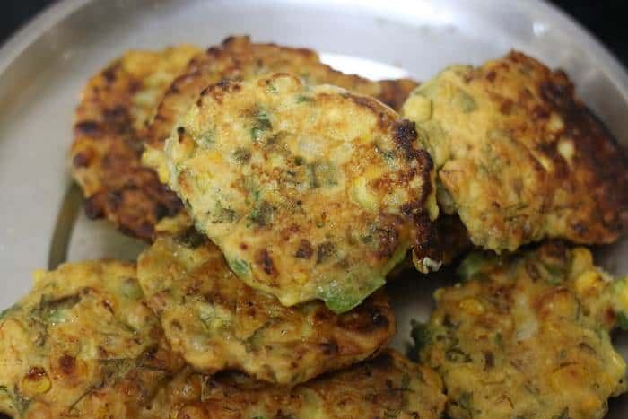 fried vegan corn fritters