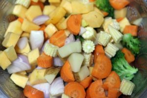 vegetables placed in a bowl.